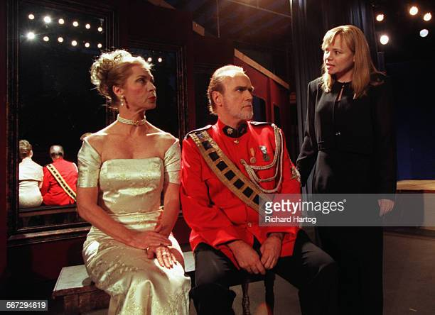 In a scene from Shakespeare's Hamlet Gertrude left and Claudius center listen as Hamlet attempts to find out who killed her father in the 'play...