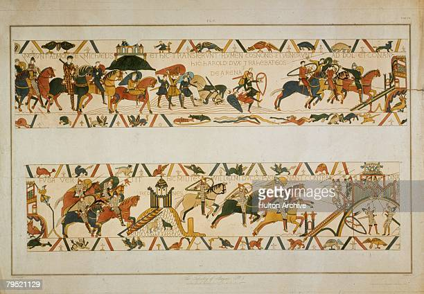 In a scene from the Bayeux Tapestry the future King Harold II rescues two of William the Conqueror's soldiers from quicksand at Mont SaintMichel...