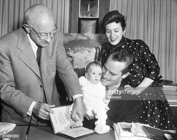 In a special signing ceremony at the Paramount Studios today the contract was made official when Demille as a congratulatory gift presented to Mrs...