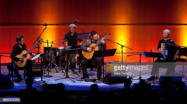 In a tribute to great Japanese composer Toru Takemitsu two guitarists an accordion player and percussionist play arrangements of and improvise on...