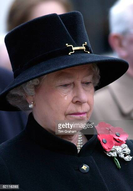 In A Week Of High Drama For Queen Elizabeth Ll She Gave Way To Tears At The Service Of Remembrance In Westminster At St Margaret's Church