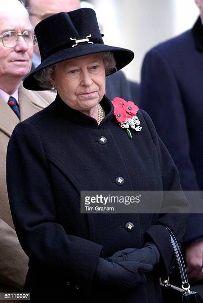 In A Week Of High Drama For Queen Elizabeth Ll She Gave Way To Tears Earlier At The Service Of Remembrance In Westminster At St Margaret's Church...