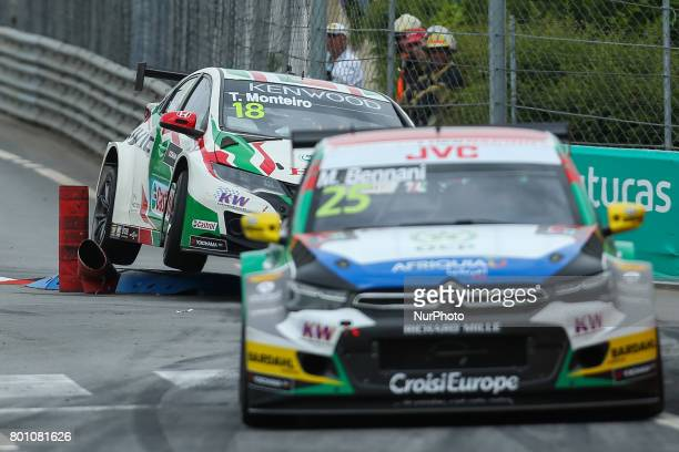 In action during the Race 1 of FIA WTCC 2017 World Touring Car Championship Race of Portugal, Vila Real, June 25, 2017.