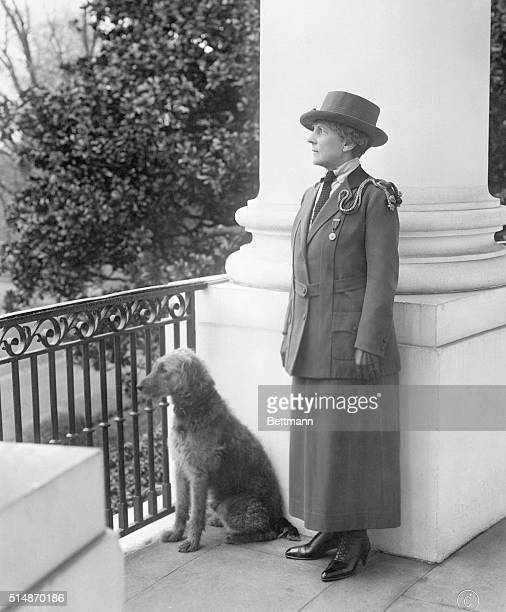 In addition to her duties as First Lady Florence Harding acts as Commander in Chief of the Girl Scouts of America