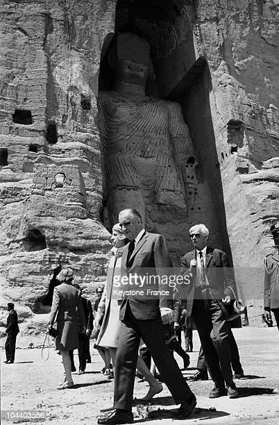 In Afghanistan in May 1968 France's Prime Minister Georges POMPIDOU visited Bamiyan's archeological site of Buddhas with his wife while on an...