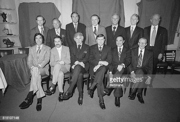 In alphabetical order are listed the new owners of the New York Yankees as announced Wednesday noon January 10 1973 at a media conference at the '21...