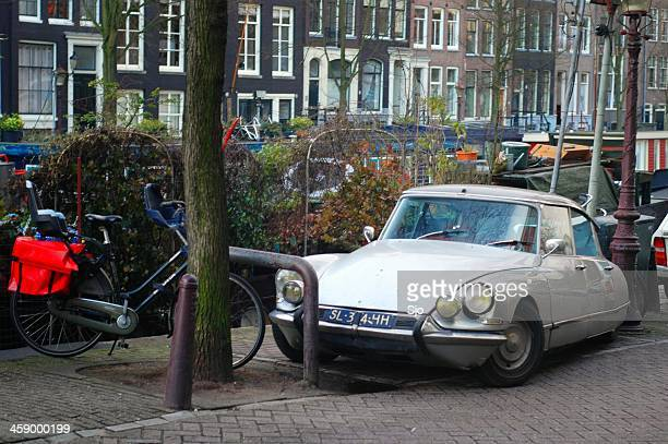 ds in amsterdam - citroën ds stock photos and pictures