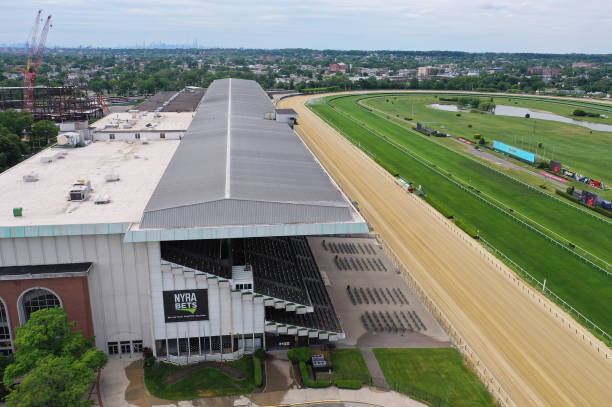 NY: Belmont Park Prepares for Live Horse Racing