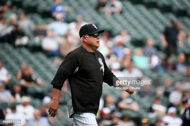 In an April 2017 file image Chicago White Sox manager Rick Renteria walks on the field during action against the Kansas City Royals at Guaranteed...