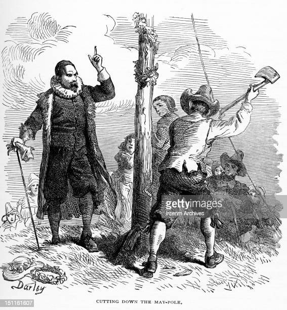 In an effort to encourage a conservative Puritanism English magistrate John Endicott orders that the maypole be cut down Massachusetts 1630