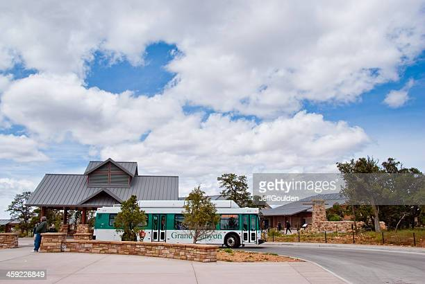 Tour Bus Waits for Passengers at Grand Canyon Visitor Center