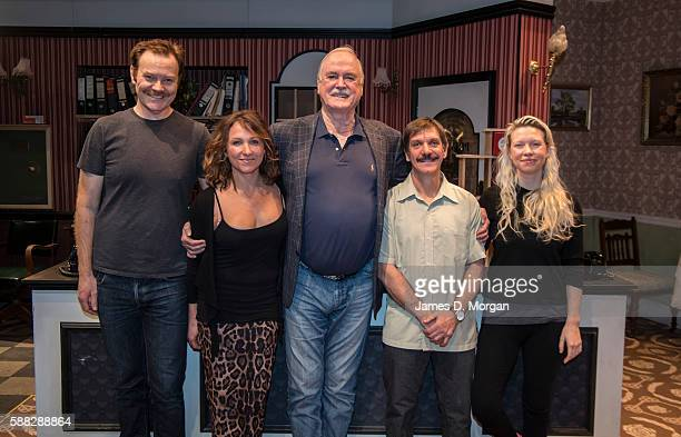 In an historic moment creator and cowriter of Fawlty Towers John Cleese came together for the first time to rehearse with the actors of Fawlty Towers...