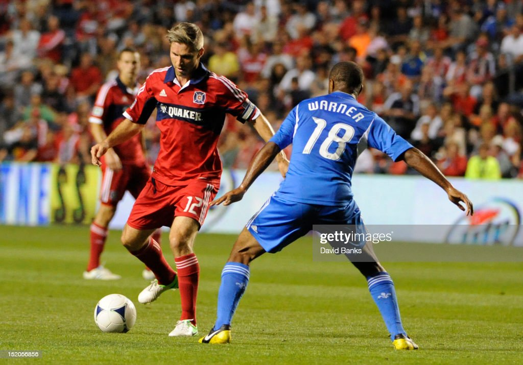in an MLS match on September 15, 2012 at Toyota Park in Bridgeview, Illinois.