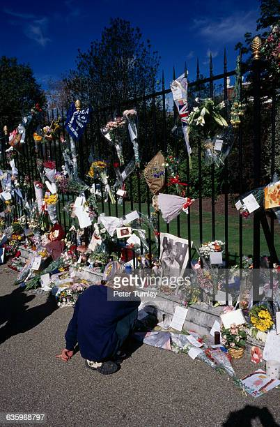 In an overwhelming outpouring of grief and sympathy over one million bouquets of flowers were left at Kensington Palace Buckingham Palace and St...