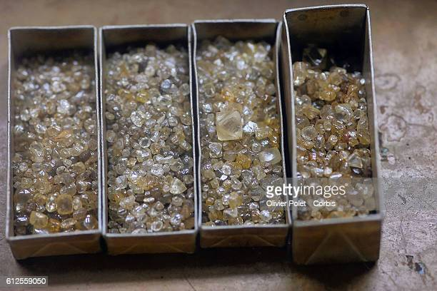 In Angola like other African countries diamond extraction is carried out using industrial methods Opencast mines are dug out from kimberlite A...