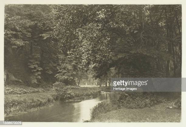 In Beresford Dale, 1880s. A work made of photogravure, plate lii from the album 'the compleat angler or the contemplative man's recreation, volume...
