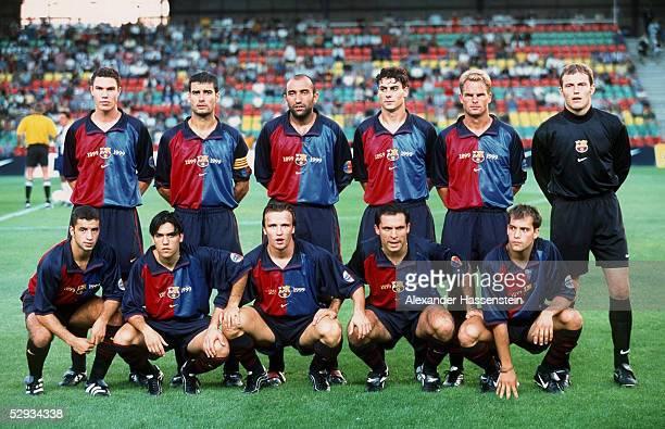 CUP 1999 in Berlin TEAM FC BARCELONA/MANNSCHAFTSFOTO