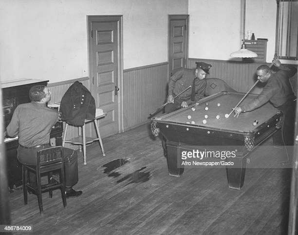 In between alarms fire fighters shoot pool play billiards and rest at the firehouse of Engine Company 11 one of the first African American...