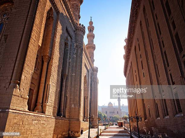 In between Sultan Hassan Mosque and Al-Rifai Mosque in Cairo, Egypt