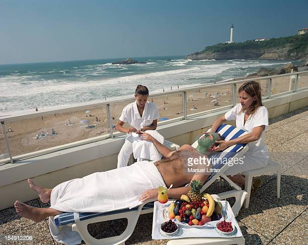 In Biarritz in June 2001 The thalassotherapy center Miramar is one of the first choice to create a customized beauty treatments for men On the...