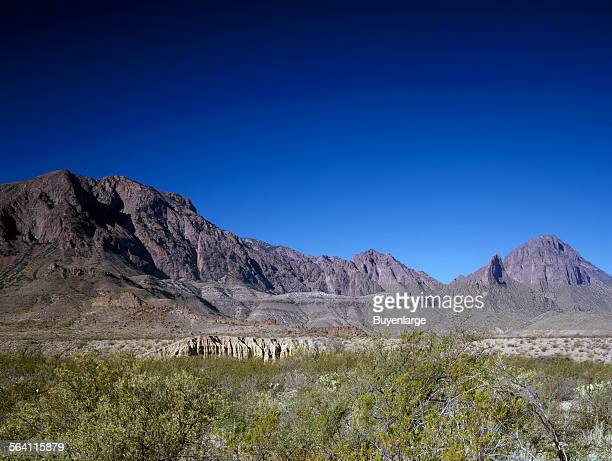 In Big Bend National Park, Texas, the Chisos Mountains jut out of the harsh Chihauhuan desert