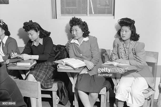 In biology class high school Kiyo Yoshida Lillian Watkatsuki Yoshiko Yamasaki Manzanar Relocation Center Ansel Easton Adams was an American...