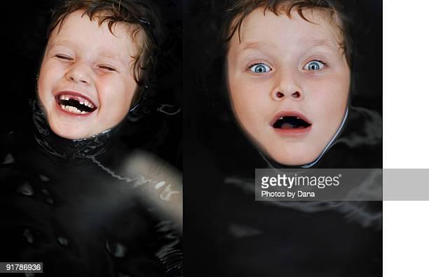 LAUGHING BOY in BLACK BATH WATER