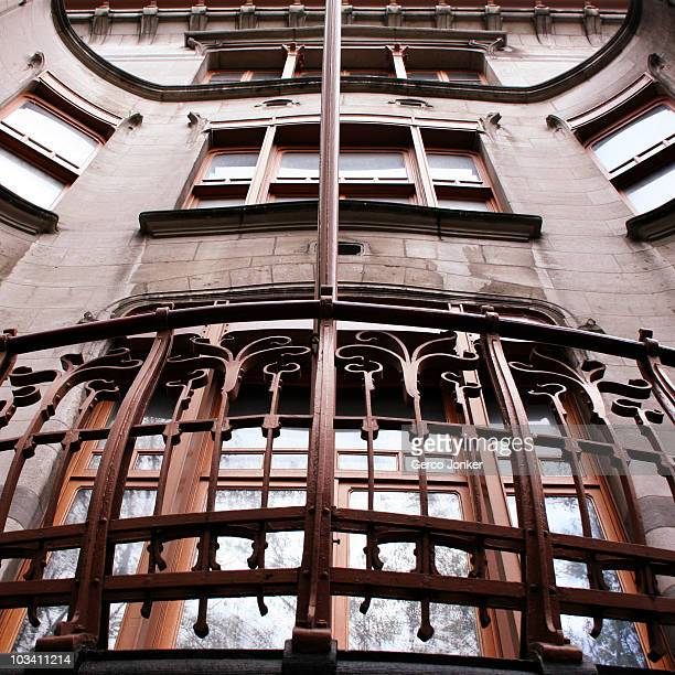 In Brussels there are many examples of Art Nouveau architecture This house is designed by Horta one of Belgium's most famous architects