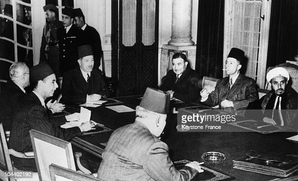 In Cairo after the announce by the UN of the creation of a Jewish state on November 29 the representatives of the seven states forming the Arab...