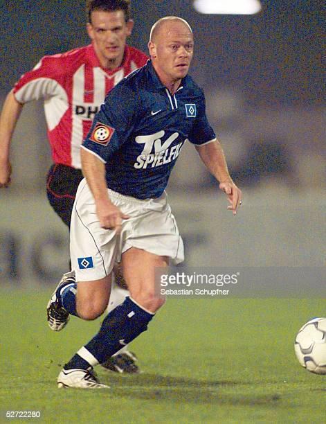 TESTSPIEL 2002 in Cartagena HAMBURGER SV PSV EINDHOVEN Stig TOEFTING/HSV