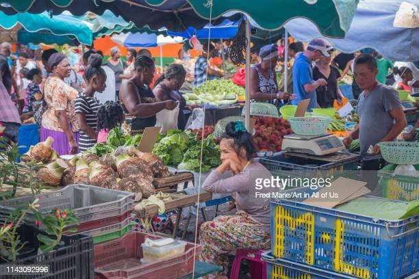 In Cayenne market, Guyana, Cayenne, France on March 17 2018 in Cayenne, France.