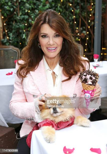 In celebration of Mother's Day Lisa Vanderpump debuts her handselected BaskinRobbins® Fancy Cone at PUMP Restaurant and Lounge on May 8 2019 in West...