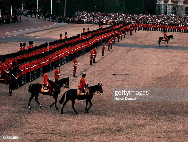 In celebration of Queen Elizabeth II's birthday members of The Life Guard participate in the Trooping the Color ceremony at Horse Guards Parade