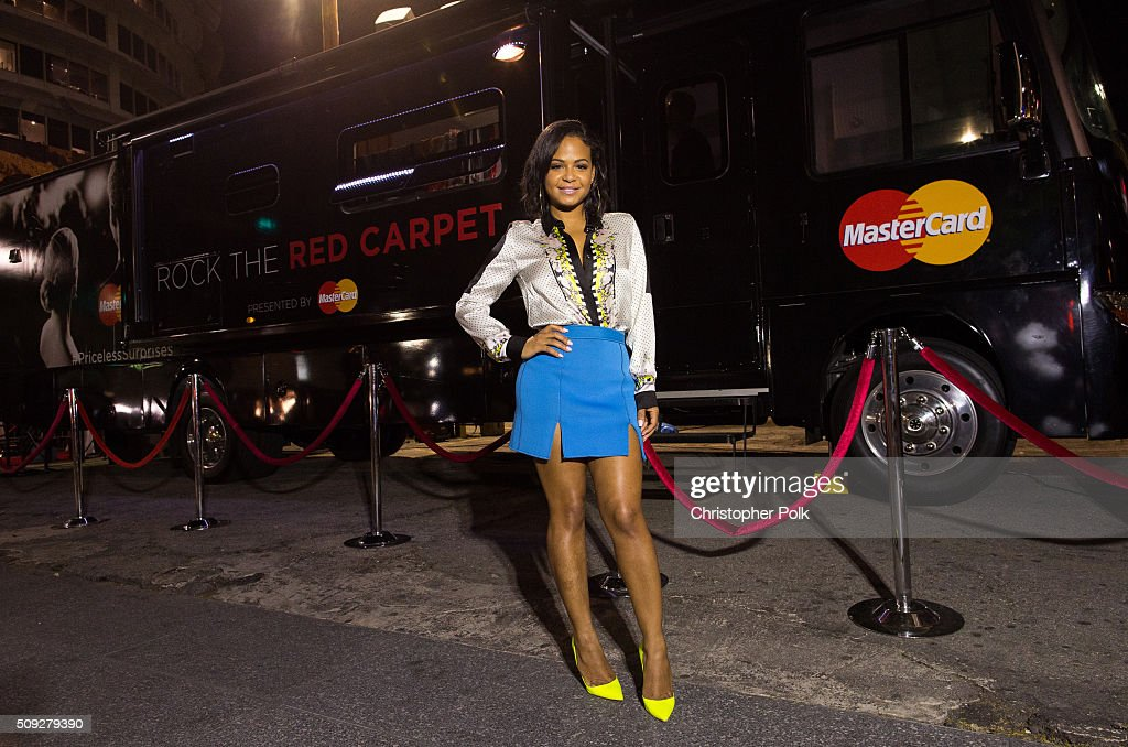 Christina Milian Surprises MasterCard Cardholders At The MasterCard Rock The Red Carpet Truck