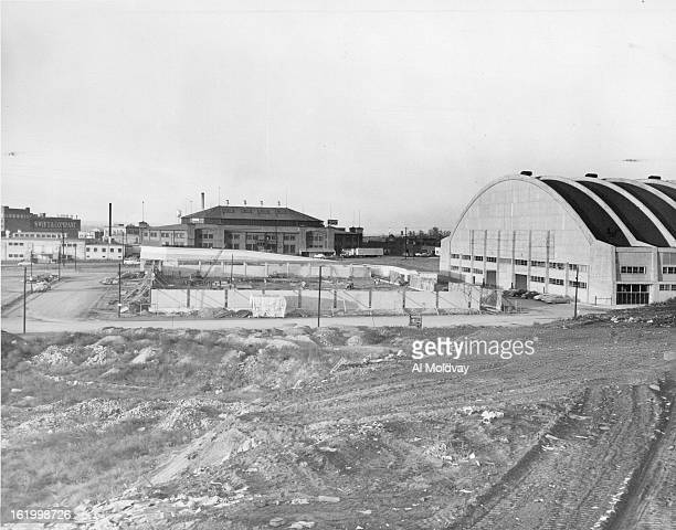 NOV 10 1952 NOV 11 1952 In center middleground of pic is new $200 200X 300 horse show and rodeo stock building at stock yards They hope to have it...