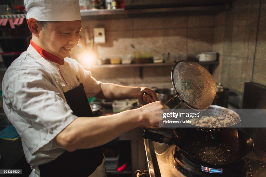 Im chinesischen Restaurant : Stock-Foto