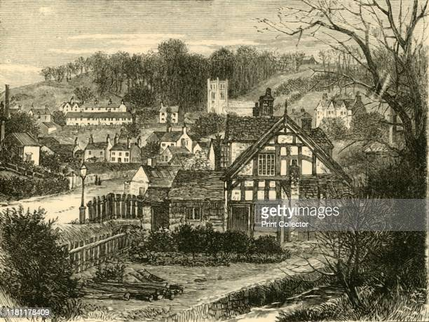 In Coalbrook Dale' 1898 Coalbrookdale village in the Ironbridge Gorge Shropshire England significant to the history of iron ore smelting by Abraham...
