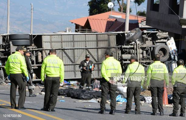 In Cochauco located at kilometer 8 of the Pifo Papallacta highway an international bus from Colombia crashed causing the death of 24 people of...