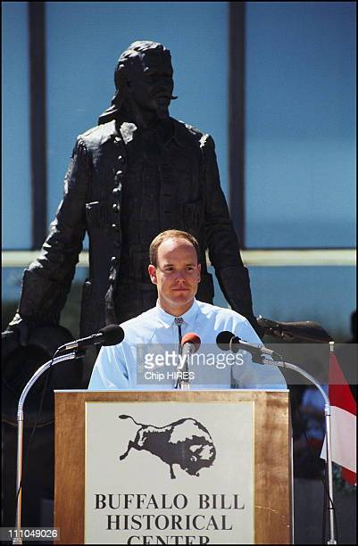 In Cody United States on August 22nd Prince Albert during a speech which was interrupted by Tamara Rotolo mother of his illegitimate daughter Jazmin...