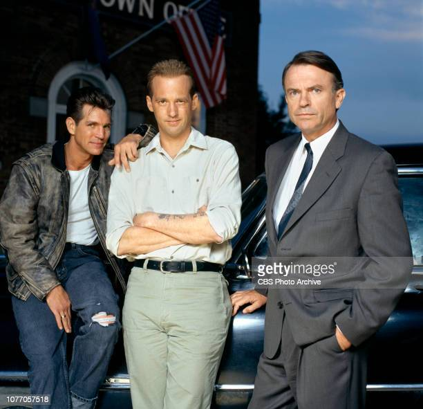 In Cold Blood a CBS television miniseries / movie Initially broadcast November 24 1996 Left to right Eric Roberts Anthony Edwards Sam Neill star in...