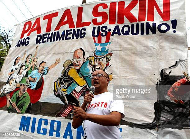 In commemoration of International Migrant's Day members of Migrante Chapters of the Philippines from 16 countries gather in Mendiola Manila City and...