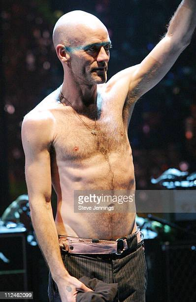 In concert Greatest Hits Tour singer Michael Stipe
