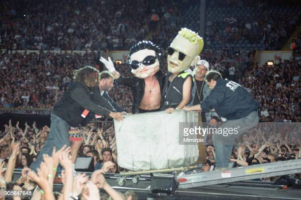 U2 in concert Zoo TV Tour Wembley Stadium 11th August 1993