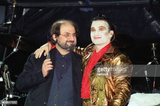 U2 in concert Zoo TV Tour Wembley Stadium Bono With Salman Rushdie 11th August 1993
