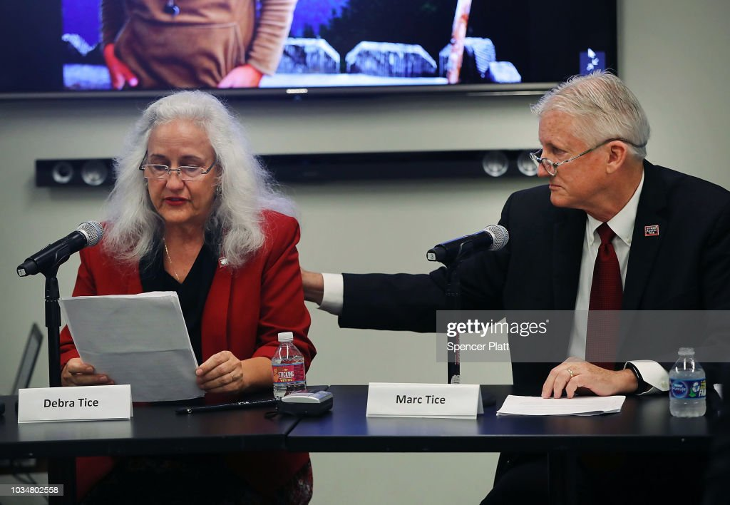 Parents Of Missing Journalist Austin Tice Hold Press Conference At UN