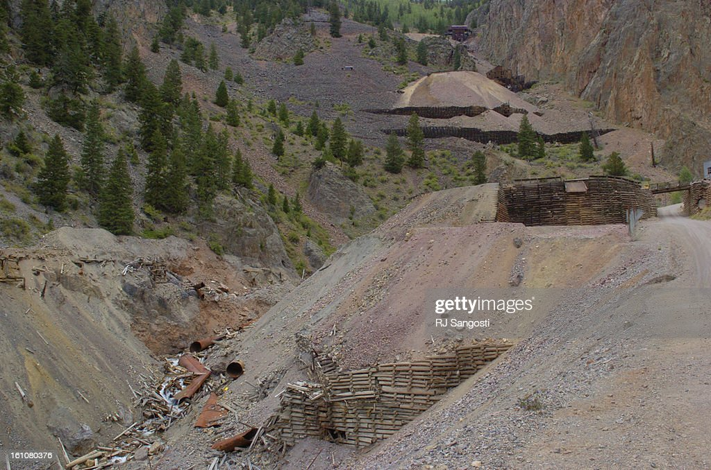 RURAL28-- CREEDE 08/26/07- in Creede Colorado.RJ Sangosti/ The Denver Post ... A large waste-rock pile that is part of the Commodore Mine in Creede is one of two sites the EPA would be targeting as a Superfund site. The other is the Nelson Tunnel which is : News Photo