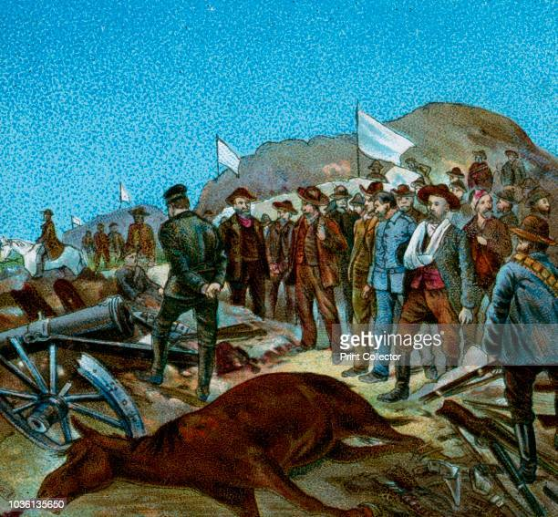 In Cronje's Laager after Surrender' 1900 Scene from the Second AngloBoer War fought in what is now South Africa between Great Britain and the...