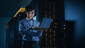 dark data center male it specialist