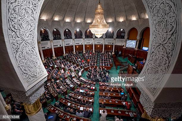 the 1st meeting of 217 members of the Assembly of the people representatives elected on October 26th a ballot taken away by the party Nidaa Toun��s...