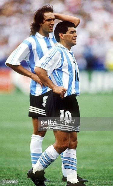 WM 1994 in den USA Boston ARGENTINIEN NIGERIA 21 Gabriel BATISTUTA Diego MARADONA/ARG